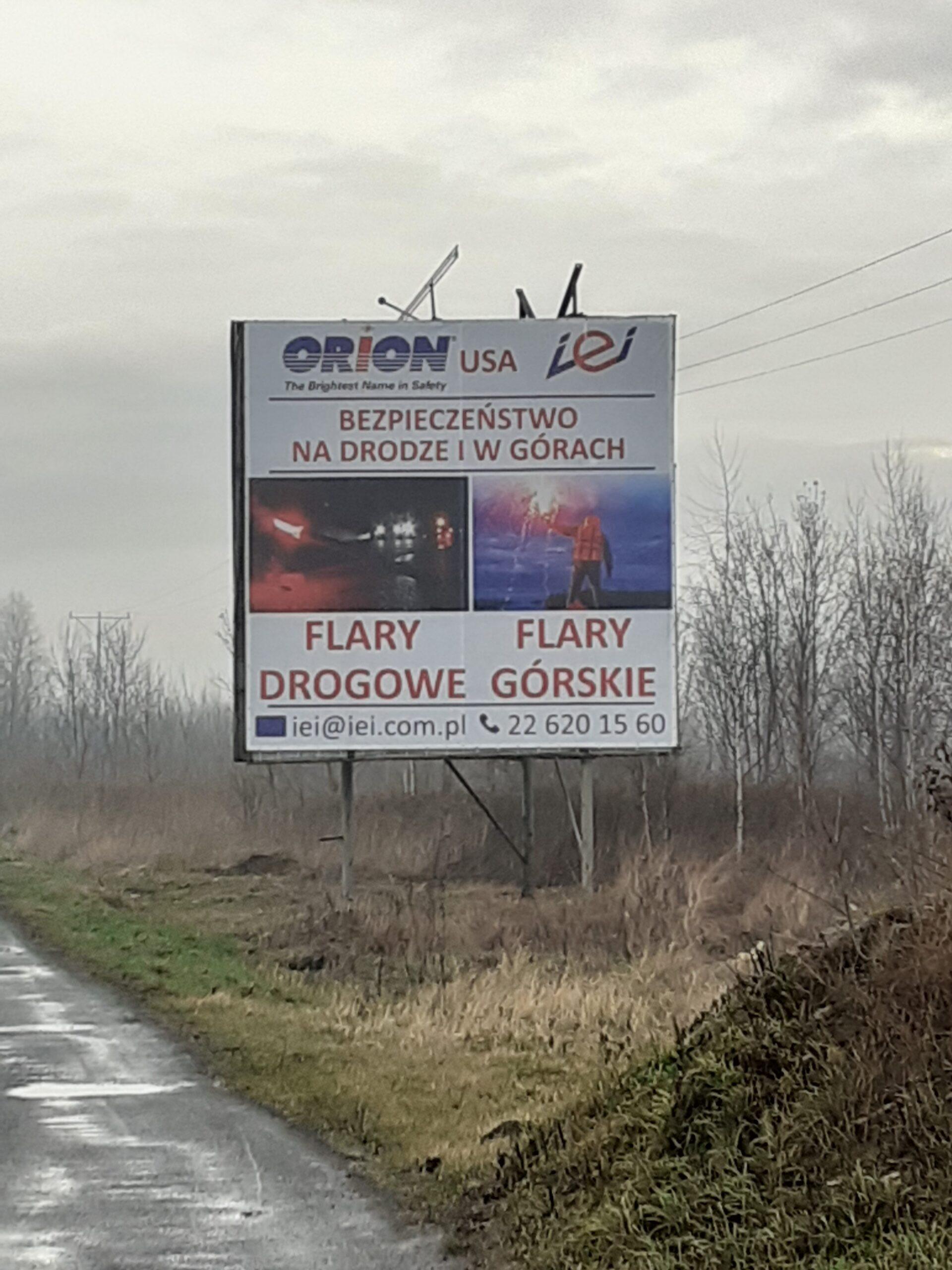 reklama przy trasach