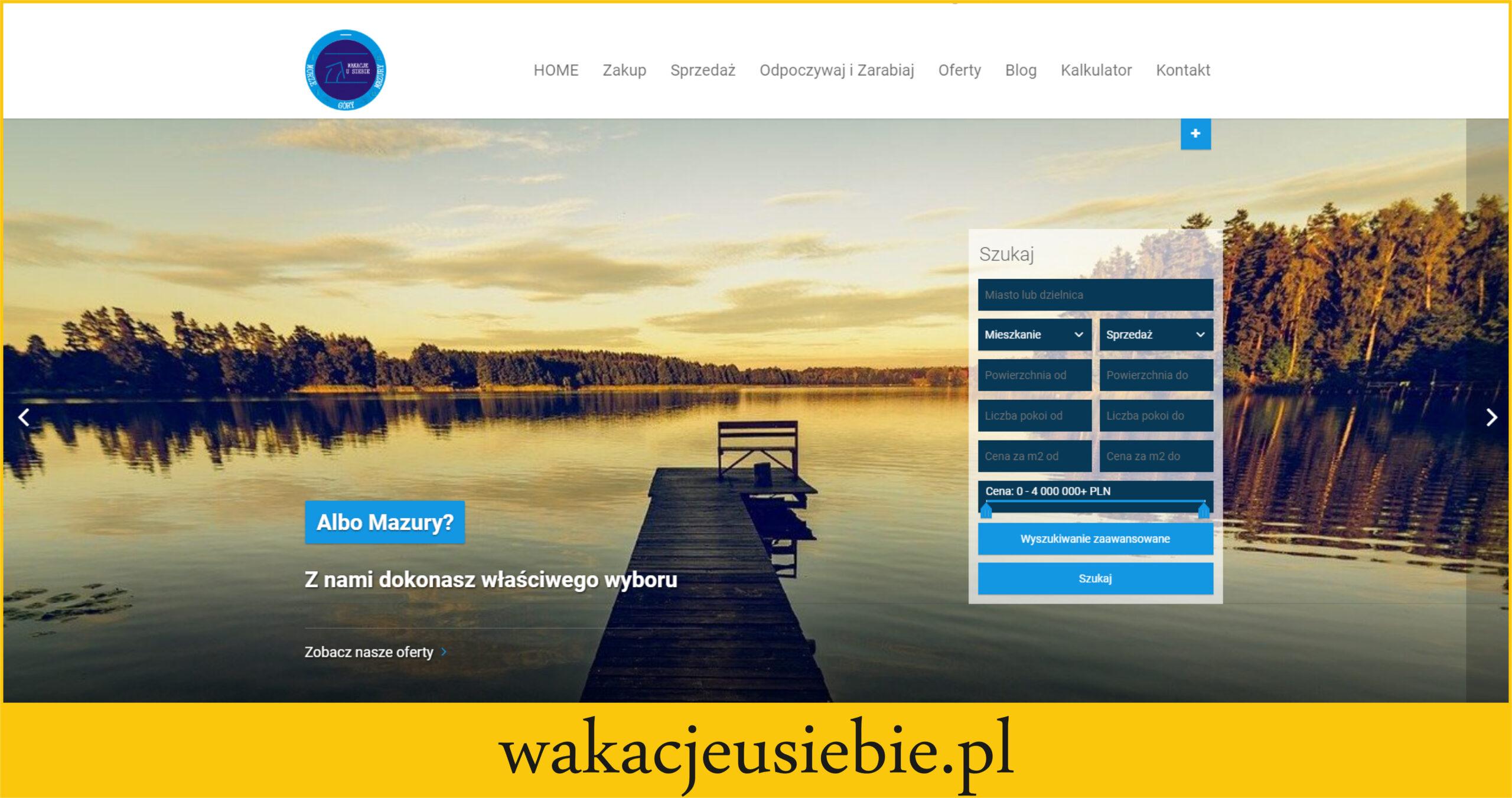 Strona internetowa z ofertami